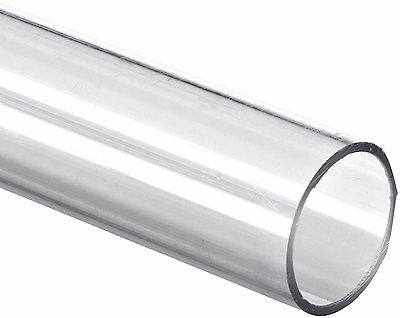 "Polycarbonate Tubing, 3/4"" ID x 1"" OD x 1/8"" Wall, Clear Color 36"" L"