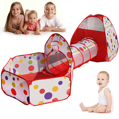 Kids Baby Tent Play Tunnel Ball Pool Pop Up Playhouse Outdoor Indoor Toy UK TOP