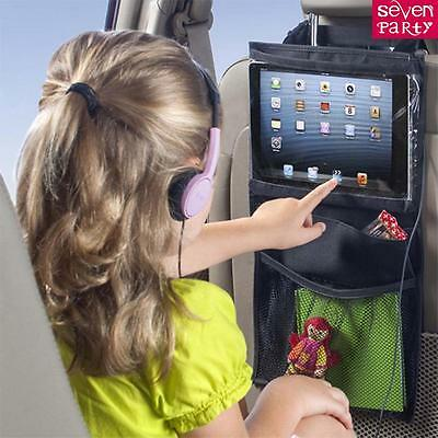 Back Car Seat  Organizer Tidy with Tablet holder Travel iPad Galaxy Storage Bag