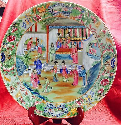 antique 19th Century chinese porcelain Charger Very Good Condition