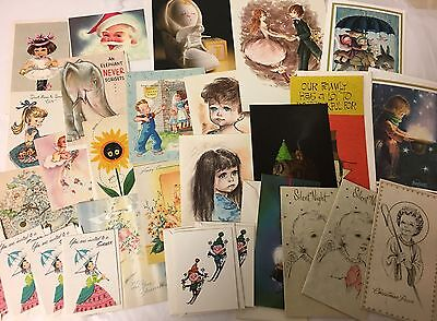 Lot 130+ VTG 1970s-1990s Assorted Greeting CARDS, UNUSED