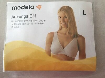 New Medela Nursing Sleep Bra in Nude - Size Large 36 D/DD/E, 38 C/D, 40 B/C