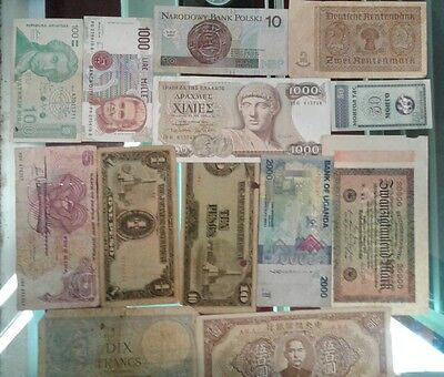 Lot of 13 Foreign Currency Paper Notes