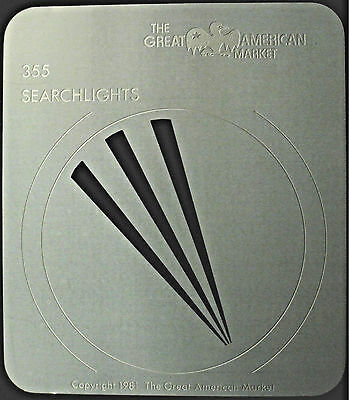 "Gobo template pattern - GAM 355 ""Searchlights"""