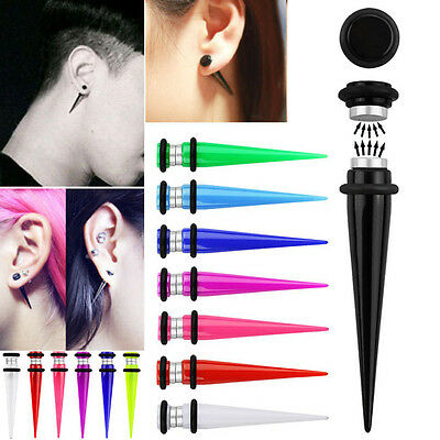 5mm-8mm Pair Fashion Fake Piercing Illusion Taper Plugs Colored Magnetic Sets