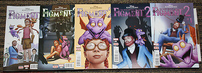 Marvel Disney Kingdoms: Figment 2 # 1-5 COMPLETE SET - Zub Bachs