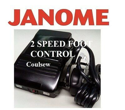 JANOME 2 SPEED SWITCH SEWING MACHINE FOOT CONTROL.(GENUINE) high low SLOW FAST