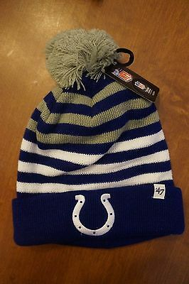 9102cfb4 NEW '47 Brand NFL Indianapolis Colts Youth Cuffed Knit Beanie Hat