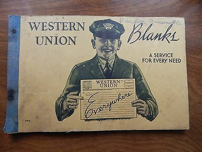 34 NEW Unused pages plus CARBON Western Union Telegram Telegraph Book