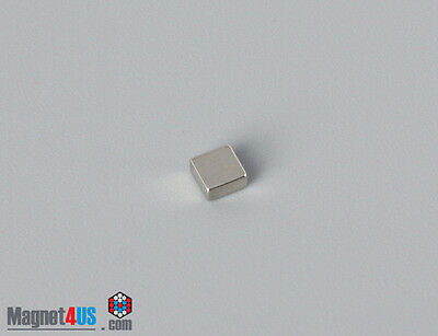 "50pcs Small Crafts Square Magnets Rare Earth Neodymium 1/8"" x 1/8"" x 1/16"" thick"