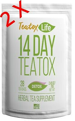 14/28 Day Skinny Detox Tea Am&pm Teatox Flat Stomach Boost Metabolism Burn Fat