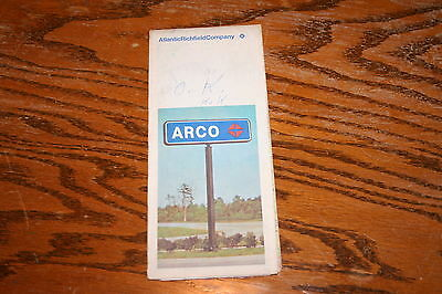 1973 Arco New Jersey Car Auto Road Map
