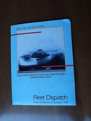 General Motors Fleet Dispatch Information Pack 1989 Truck Preview Cars Pricing