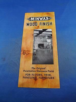 Advertising Flyer Minwax Wood Finish Color Chart New York Usa