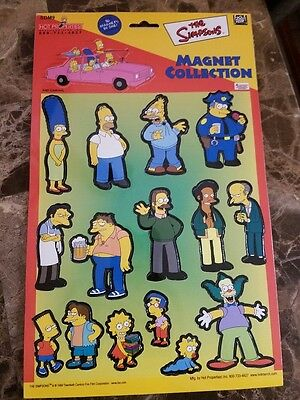The Simpsons 16 PC Cast Magnet Collection Set Funny TV Cartoon