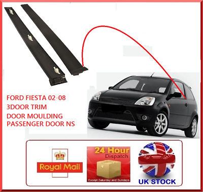 FORD Fiesta MK6 02-08 Outer Front Passenger Door window Trim Left Hand N/S 3dr