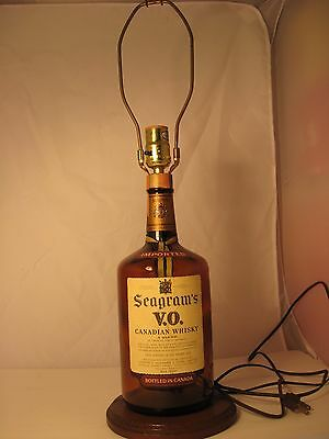 Vintage Seagram's V.o Whisky Bottle Lamp