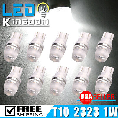 10PCS T10 Wedge Bulb High Power 1W LED Light Xenon White W5W 192 168 194