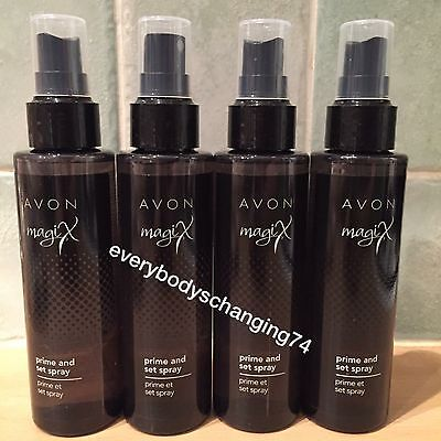 Avon~MagiX Make Up Prime & Set (Setting) Spray~x4 Lots