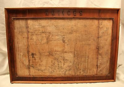 Vintage Industrial Wooden Notice Board Large 1950's