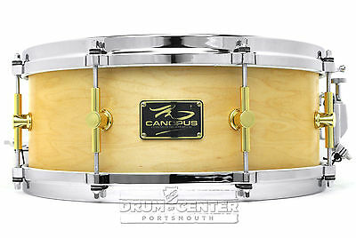 Canopus 'The Maple' Snare Drum 14x5.5 w/ Cast Hoops Oil Finish - Video Demo
