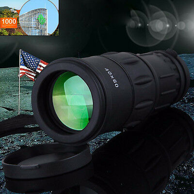 Outdoor Day&Night Vision 40X60 HD Optical Monocular Hunting Hiking Telescope AYX