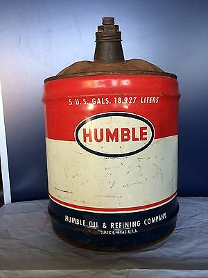 Vintage Humble 5 Gallon Gas Oil Can