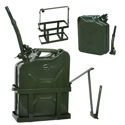 Segawe 5 Gallon 20L Jerry Can Fuel Steel Tank Military Green w/ Holder New
