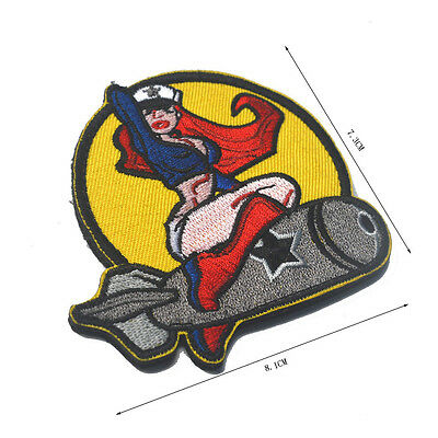 Pinup Girl Acu Combat Tactical Ops Isaf Hook Badge Morale Military Patch
