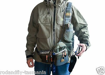 Fly Fishing Sling Pack  Chest & Shoulder Bag