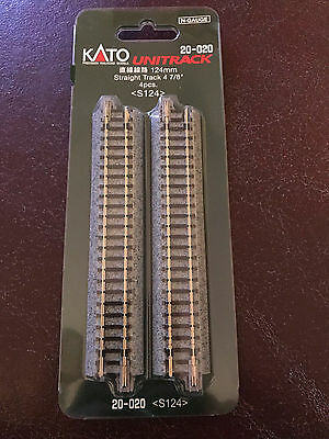 "Kato Unitrack N gauge, 20-020, Straight Track 4 7/8"", 4 pcs"