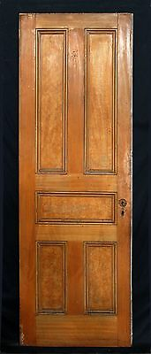 "28""x80.5"" Antique Victorian Interior Wooden Solid Wood Door Recessed Flat Panels"