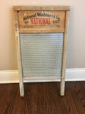 """Antique National Washboard Co. """"Glass King # 865"""" Amazing Condition!!"""