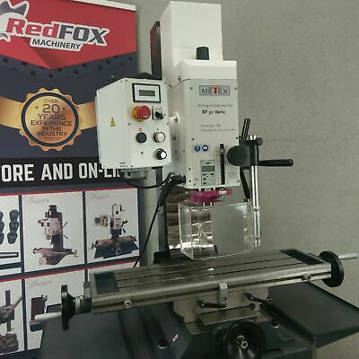 BF30V Milling Machine Geared Head METEX by OPTIMUM Mill Drill Tapping Mode