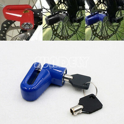 Blue Heavy Duty Motorbike Motorcycle Bike Scooter Disc Lock Padlock + Keys