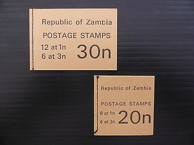 ZAMBIA 1968 Booklets SGSB2/3 FP9938