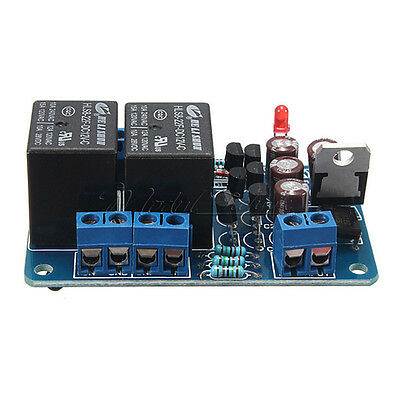 Speaker protection board component audio amplifier with DC Protection Boot Delay