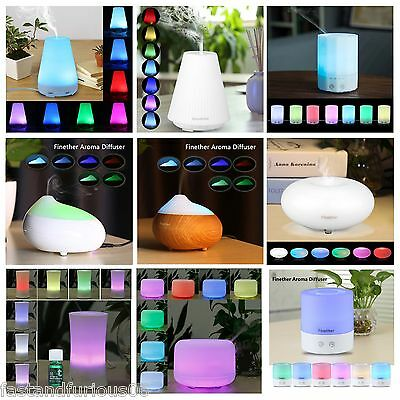 LED Oil Aroma Diffuser Ultrasonic Air Humidifier Aromatherapy Purifier Nebuliser
