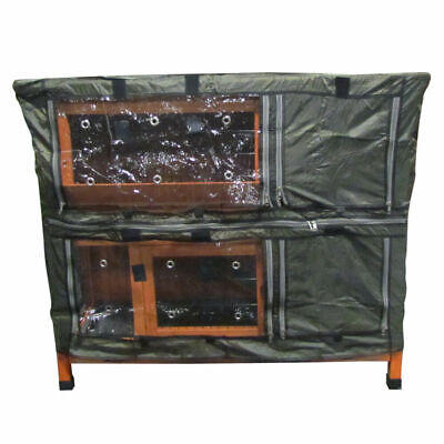 4Ft Large Double Rabbit Hutch Cover / Guinea Pig / Deluxe Pet Covers