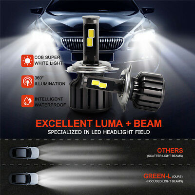 H4 180W 18000LM CREE COB LED Headlight KIT Replace Halogen Xenon HIGH LOW Beam