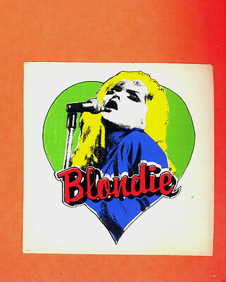 Blondie punk original 1979 sticker MINT CONDITION