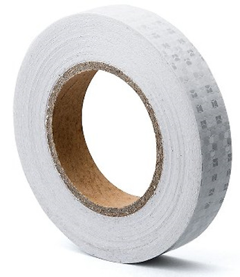 "White Reflective Tape Self Adhesive Warning Tape 1"" x 25' Outdoor HoneyComb bus"