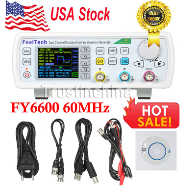 FY6600 60MHz Dual Channel DDS Function Signal Generator Waveform 20Vpp US FAST!