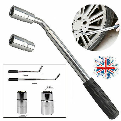 17/19/21/23mm Extendable Telescopic Wheel Nut Wrench Brace Socket Car Van Truck