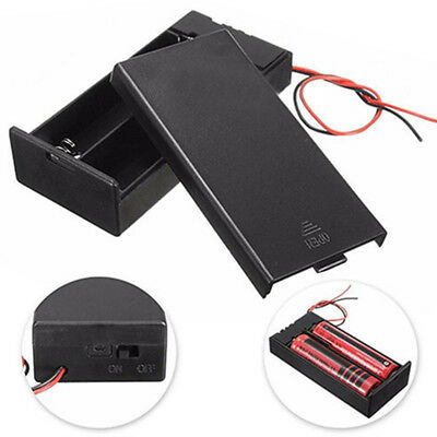 DC Battery Box Case Storage Holder ON/OFF Switch Wire for 2x 18650 3.7V Battery