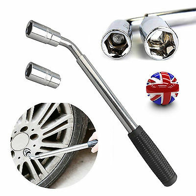 21 17 19 23mm EXTENDABLE HANDLE WHEEL TELESCOPIC CAR BRACE SOCKET TYRE WRENCH UK