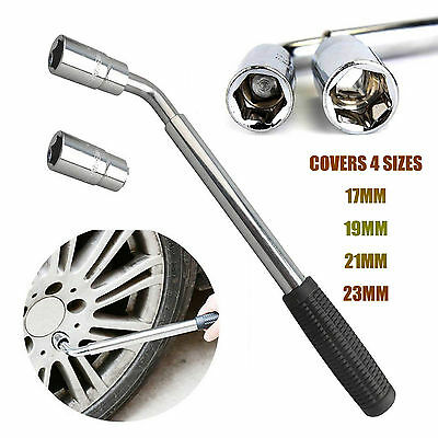 Extendable 17 19 21 23mm Wheel Brace Wrench Telescopic Car Van Socket Tyre Nut