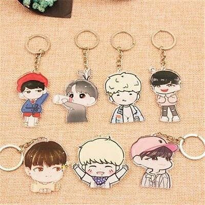 BTS Key Ring Bangtan Boys JUNGKOOK JIMIN J-HOPE Cartoon Character Kpop Key chain