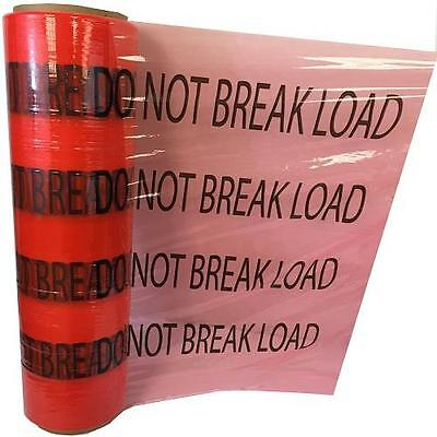 """(80 Ga) 5"""" x 1000' """"DO NOT BREAK LOAD"""" Red with Black Print Hand Wrap 864 Rolls"""