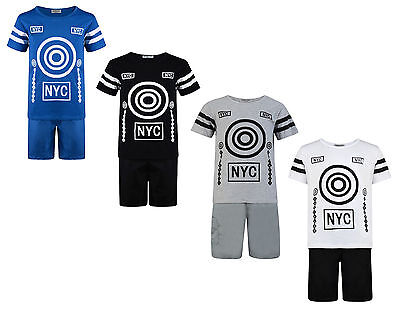 Boys Shorts T Shirt Set 2 Piece Outfit New York 3-12 Years Bnwt